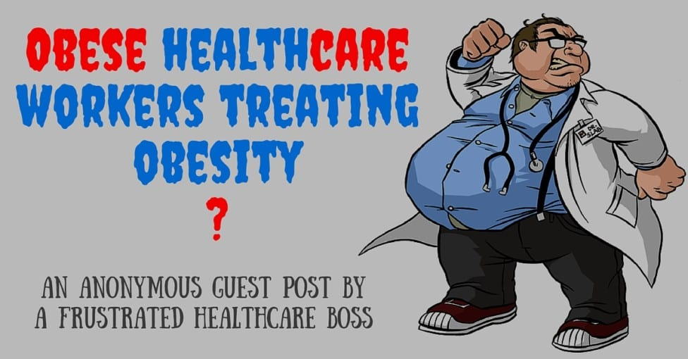 Obese healthcare workers treating obesity-